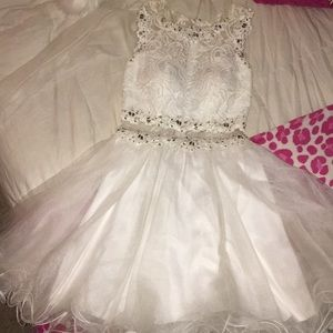 White homecoming dress size medium